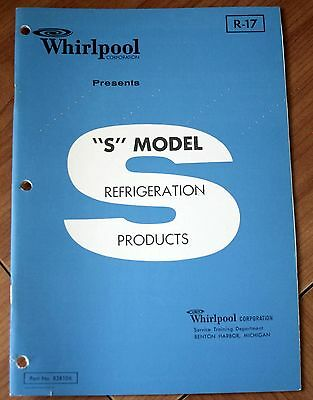 """Whirlpool """"S"""" Model Refrigeration Products R-17 - ESD-19 Connoisseur Twin ESP-18"""