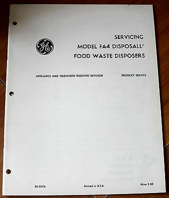 GE General ElectricServicing Model FA4 Disposall Food Waste Disposers VG