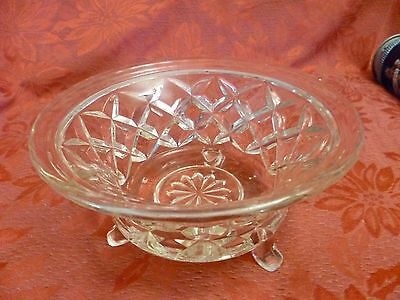 Vintage Footed Crystal Bowl