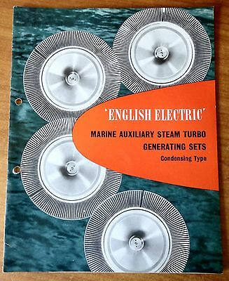 English Electric Marine Auxiliary Steam Turbo Generating Sets Condensing Scarce!
