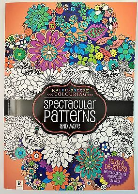 NEW Spectacular Patterns Adult Colouring Book - Relax & Meditate