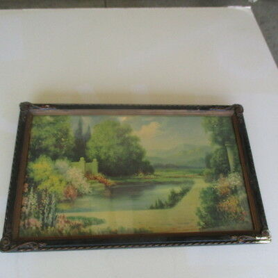 Antique Framed Print by Hubert Lewis in Original Frame