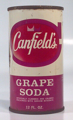 Vintage 1962 Canfield's Grape Soda 12oz Steel Can AJ Canfield Co Chicago IL