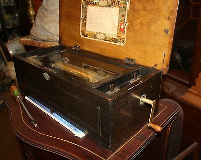 antique music box 12 song, 36 note comb, with song# indicator, start & repeat