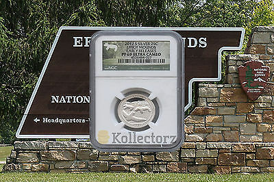 2017 S Silver Quarter Effigy Mounds Early Release .25 Ngc Pf69 Ultra Cameo