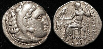MORTOWN Alexander The Great Silver Drachm Hercules Lion + Zeus Problem Free!