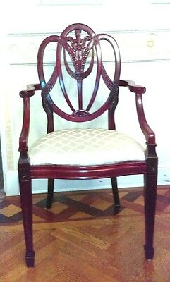 FINAL LISTING COMPLETE SET 10 Carved Antique Hepplewhite? Chairs 8 Dining 2 Arm
