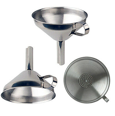 Thick Stainless Steel Large Funnel With Detachable Strainer Kitchen Dining Tools