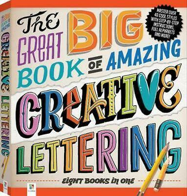 The Great Big Book of Amazing Creative Lettering Hardcover Book Free Shipping!