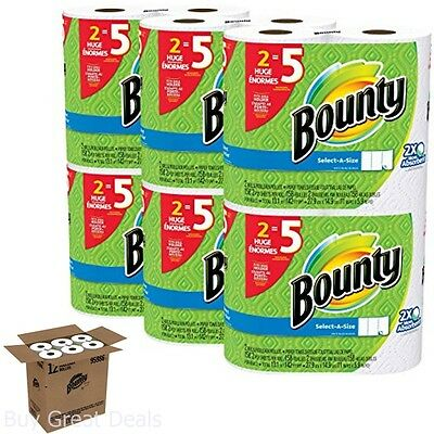 Best Bounty Basic Select A Size Commercial Paper Towels White Huge Rolls Bulk