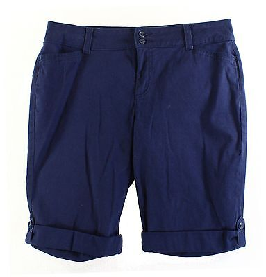 Charter Club NEW Navy Blue Womens Size 14 Classic Fit Bermuda Shorts $49 199