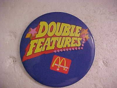 McDONALDS DOUBLE FEATURES PINBACK BUTTON