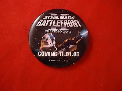 Star Wars Battlefront II XBOX PS2 Promotional Button Pin Promo Pinback
