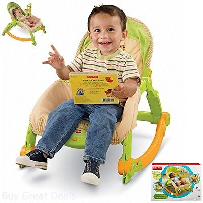 Rocker Chair Baby Newborn Swing Sleep Seat Toy Arm Rack Portable Fisher Price