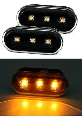 2 Clignotants Lateraux Noir A Led Ford Fiesta 5 V Jh Jd 1.3 11/2001-09/2008