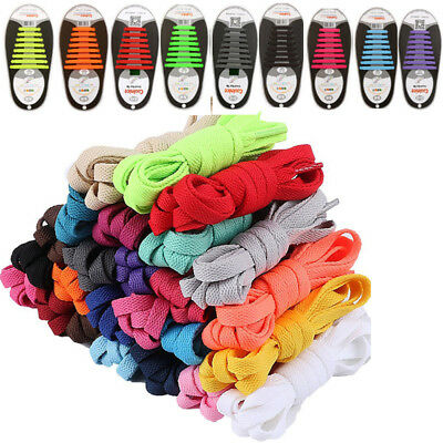 16PCS Unisex No Tie Shoelaces Elastic Silicone Shoe Laces Fit All Sneakers