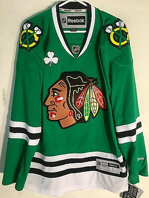NHL Chicago Blackhawks St Patricks Premier Ice Hockey Shirt Jersey