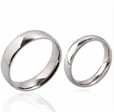 50x Quality Comfort-fit 4mm 6mm Stainless Steel wedding Rings for men and women