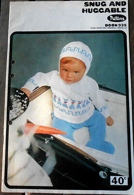 Vintage Patons Book 935 Snug and Huggable Baby Knitting Patterns
