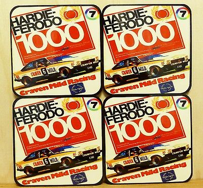 Drink Coaster Set Of 4 - Hardie Ferodo 1000  Mount Panorama