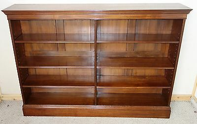 Edwardian Open Walnut Bookcase, nationwide delivery available