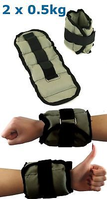 BodyRip 2 x 0.5kg ANKLE / WRIST WEIGHT WRAPS STRAPS PERFECT WORKOUT TRAINING