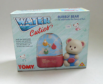 Vintage Tomy WATER CUTIES Game BUBBLY BEAR 1980's MISB