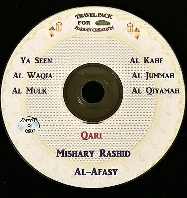 Al Quran Audio CD for cars-by Mishary Rashid al afasy-Selected Surah's