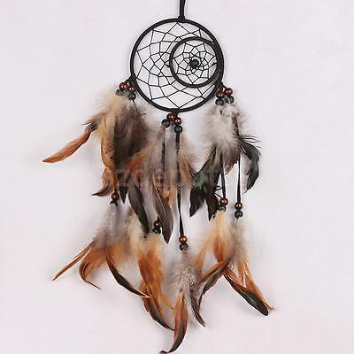 Natural Moon and Sun Dreamcatcher Wall Hanging Home Decor Art Craft Ornament