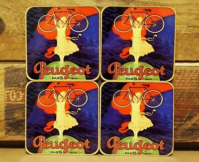 Drink Coaster Set Of 4 - Peugeot Bicycles