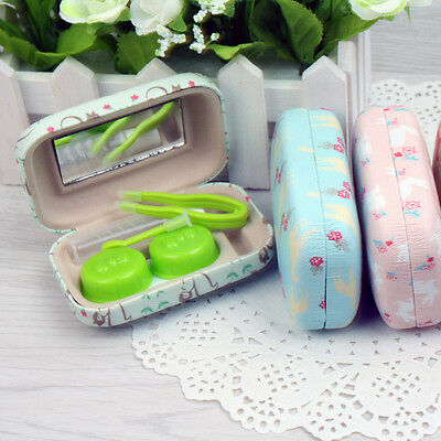 Animal Contact Lens Case Hard Cases Makeup Tool US-Pupil Storage Box Container