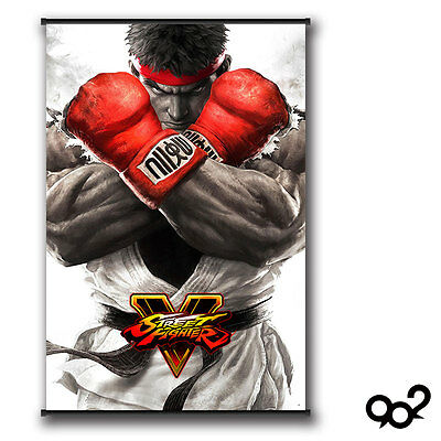 Street Fighter Ryu Hoshi Poster Wall Scroll Painting 60*90cm #A