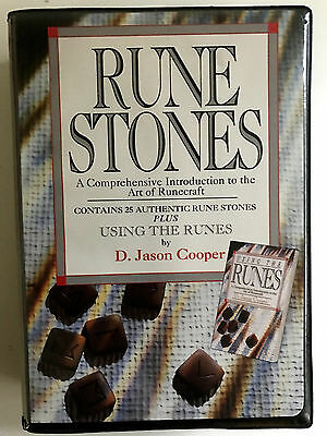 rune stones runecraft stones and guide book D. Jason Cooper vintage boxed set