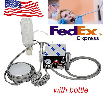 USA Portable Dental Turbine Unit work With air Compressor 4Hole & water syringe