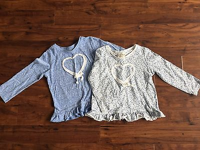 Girls Age 12-18 Months Next Long Sleeved  Tops X2