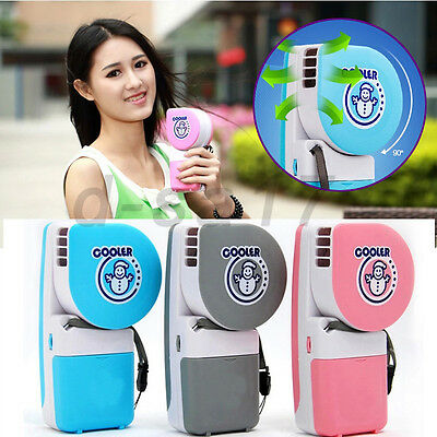 Mini Air Conditioner Cooler Cooling Fan Hand Held Portable USB/Battery Desk Home