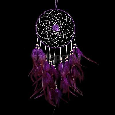 Large Purple Rose Dreamcatcher Wall Hanging Home Decor Art Craft Ornament