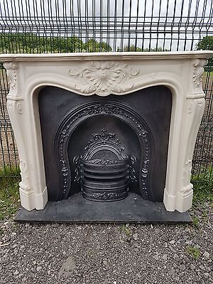 115 Cast Iron Fireplace Surround Fire Marble Arch Arched Antique Victorian Style