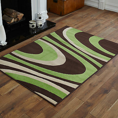 New Modern Small Large Extra Large Brown Green Cream Curly Best Rugs On Sale !!!