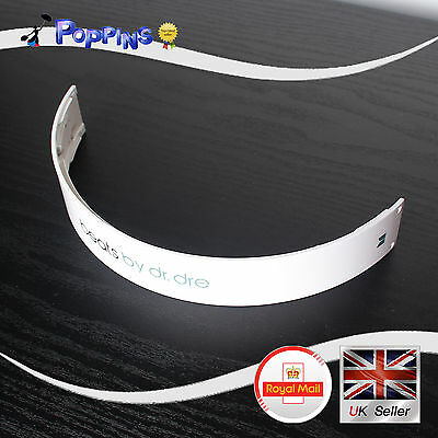 NEW Replacement Top Headband For Dr Dre Beats Monster Studio Headphones WHITE