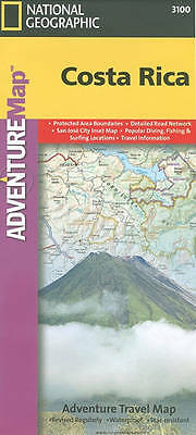 Costa Rica: Travel Maps International Adventure Map by National Geographic Maps