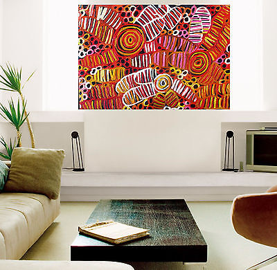 """24"""" Insects Framed Aboriginal  art print painting by Jane authentic COA"""