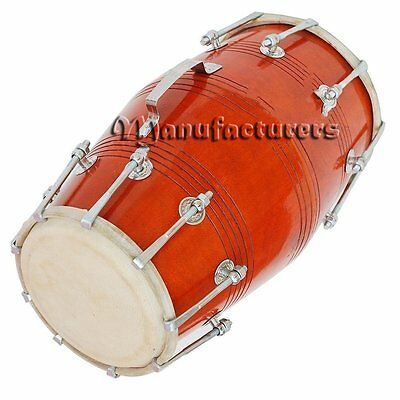 Dorpmarket Solid Wood HM-0117 Hand Made Dholak Red Color - A Musical Instrument