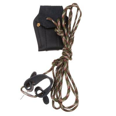 Archery Recurve Bow Stringer Bowstringer Bowstring Install Rope Tool Black/Brown