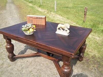 Quality French Antique Extending Oak Dining Table