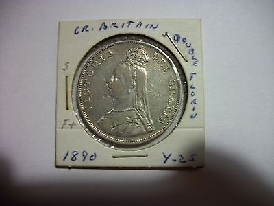 Great Britain 1890 Double Florin Coin