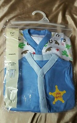 2 sleepsuits new in pack up to 3 months 13lbs new