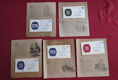 Great American Historic Stamp Collection, 5 Covers with MNH Stamps, C251