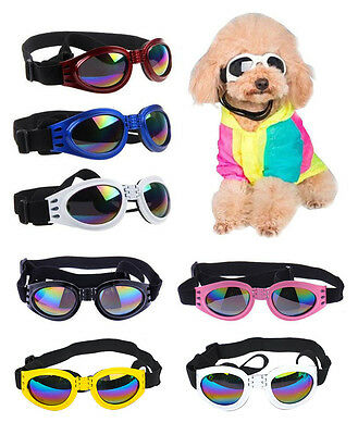 Dog Goggles Sunglasses Doggles Padded UV Wind Rain Protection Onesize Adjustable