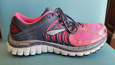 Brooks Women's Glycerin 11 Athletic Running Workout Shoes Pink Grey Size 8.5 M